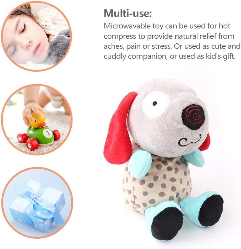 Microwavable Plush Toy Stuffed with Eco-Friendly Micro-Beads Warm Plush Pal Pals Cover Heated for Childrens Soothing Warmth /& Comfort Elephant