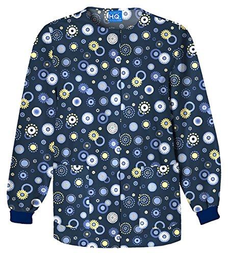 Cherokee Scrub H.Q Women's Crew Neck Dot Print Jacket Large - Warm Jacket Ck Up