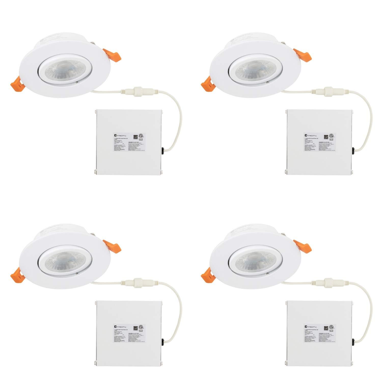 独特の上品 LEDジンバル埋め込みダウンライト 3.5インチ ドライバー付き ドライバー付き 4 Pack 3.5インチ シルバー Trim B07JJY3NVY 3k Soft White - White Trim 4 Pack 4 Pack 3k Soft White - White Trim, Colorful Textile Market:4c4c2d7f --- a0267596.xsph.ru