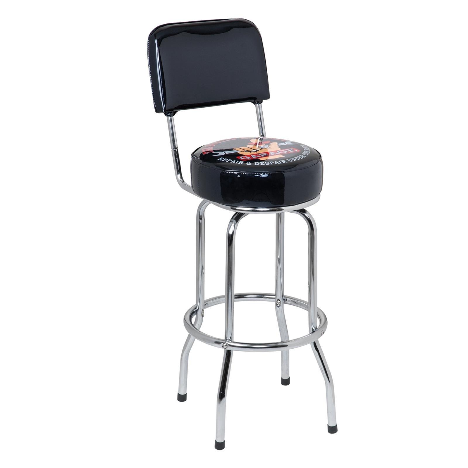 Busted Knuckle Garage® Bar Stool with Backrest