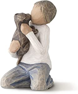 Willow Tree Kindness (boy, Darker Skin Tone & Hair Color), Sculpted Hand-Painted Figure