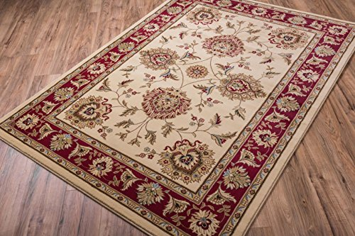 - Well Woven Timeless Abbasi Ivory Traditional Area Rug 7'10