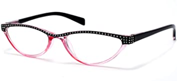552bb7f604 Amazon.com  Cat Eye Retro Reading Glasses For Women Pink By Florida ...
