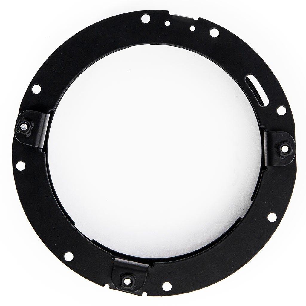 Krator Black 7 LED Headlight Mounting Ring Trim Bracket for Harley Davidson Ultra Classic Electra Glide FLHTCU 2007-2013