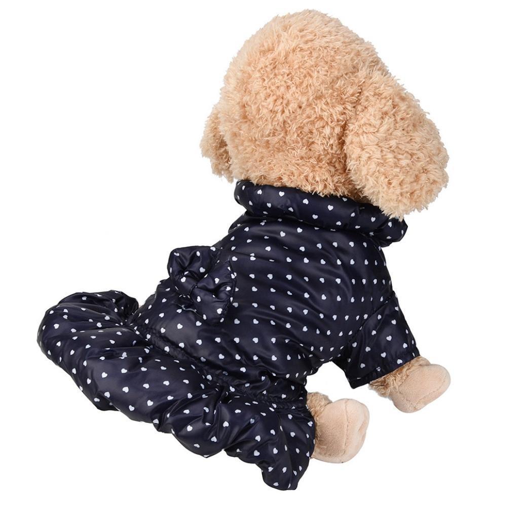 Vetement Chien/Chat Angelof Manteau Doudoune Chiot Chaud, Robe Pour Petit Chien Habits Chihuahua Jacket Hiver ANGELOF0116
