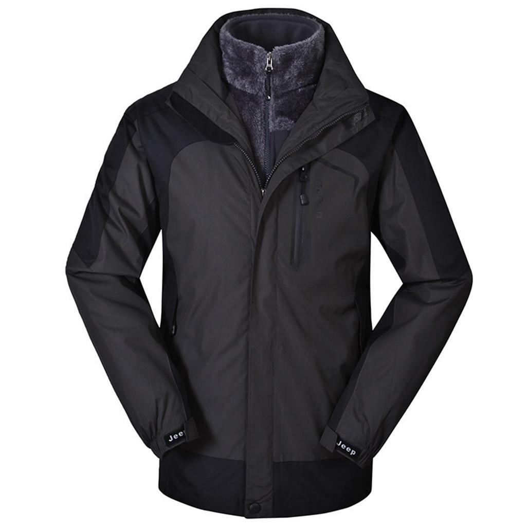 ZHEN Outdoor-Sportswear Herren Venture Jacke 2-in-1 Jacke mit Taschen