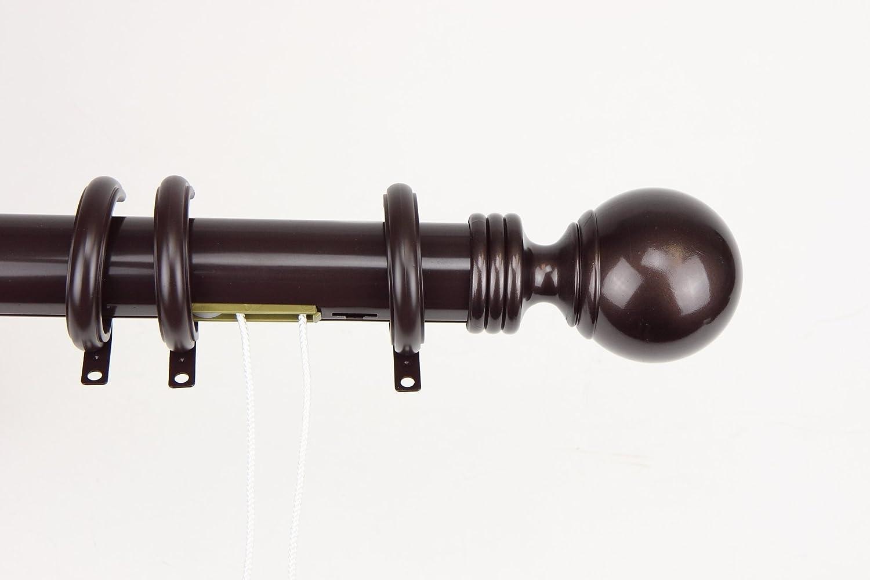Amazon Com Decorative Traverse Curtain Rod W Rings Ball Finial 66