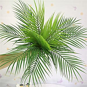 Artificial Plants Greenery Boston Fern Plants Shrubs Tropical Palm Leaf for Indoor Outdoor Wedding Deco 5