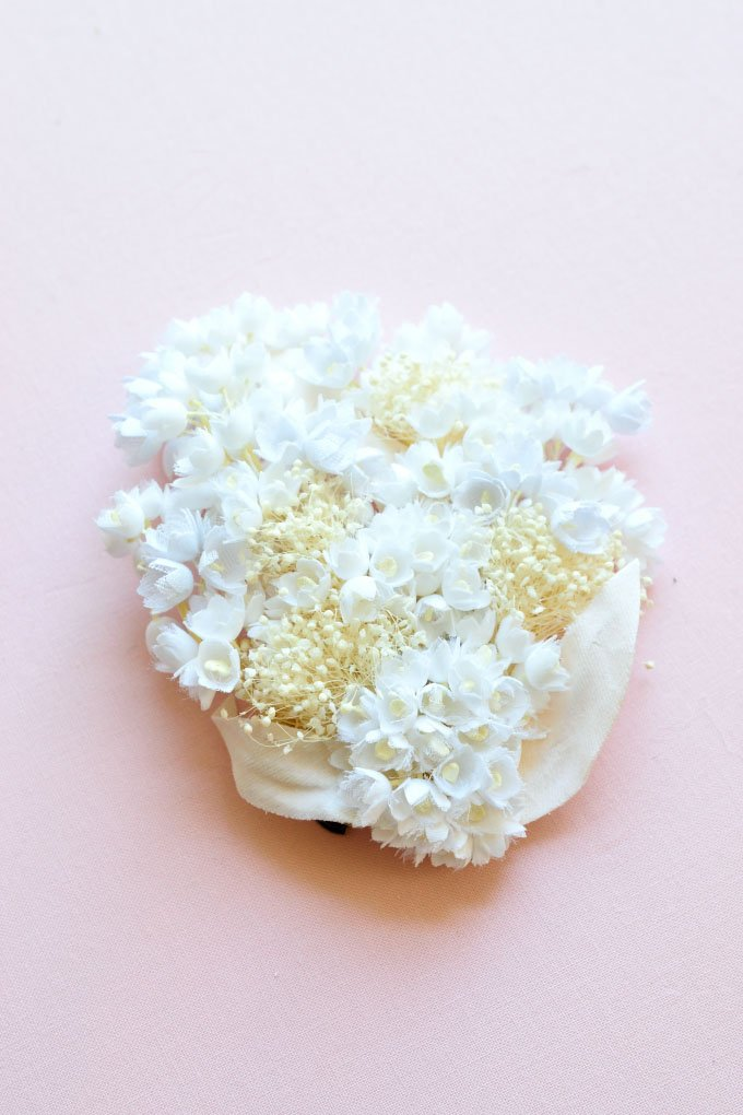 Wedding & Bridal | Lily of the Valley Bridal Hair Clip & Corsage | Cotton Flowers | Handmade in Japan by Brandimport