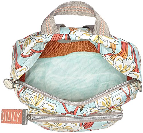 Oilily Ruffles Ornament Backpack Svz - Borse a zainetto Donna, Turchese (Light Turquoise), 9x26x22 cm (B x H T)