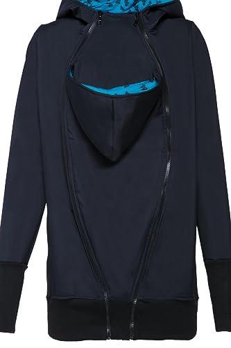 056p Happy Mama Damen Kapuzen Softshell Jacke Umstands herausnehmbaren Einsatz