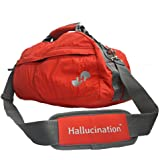 Hallucination unisex Gym Bag (Red) Sports Bag Duffel Bag Travel Bag Casual, Funky & Vibrant (Red)