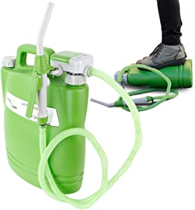 TERA PUMP TRWC-L - Battery Powered Watering Can with 4.9 Feet Long Hose, Green, 3.8 Gallon Can (Included) - 1.2 GPM
