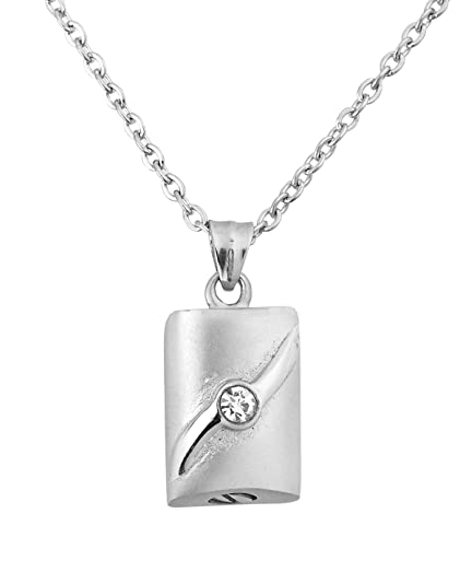 Amazon forever locked cremation urn pendant ashes memorial forever locked cremation urn pendant ashes memorial necklace 316l grade silver tone aloadofball Gallery