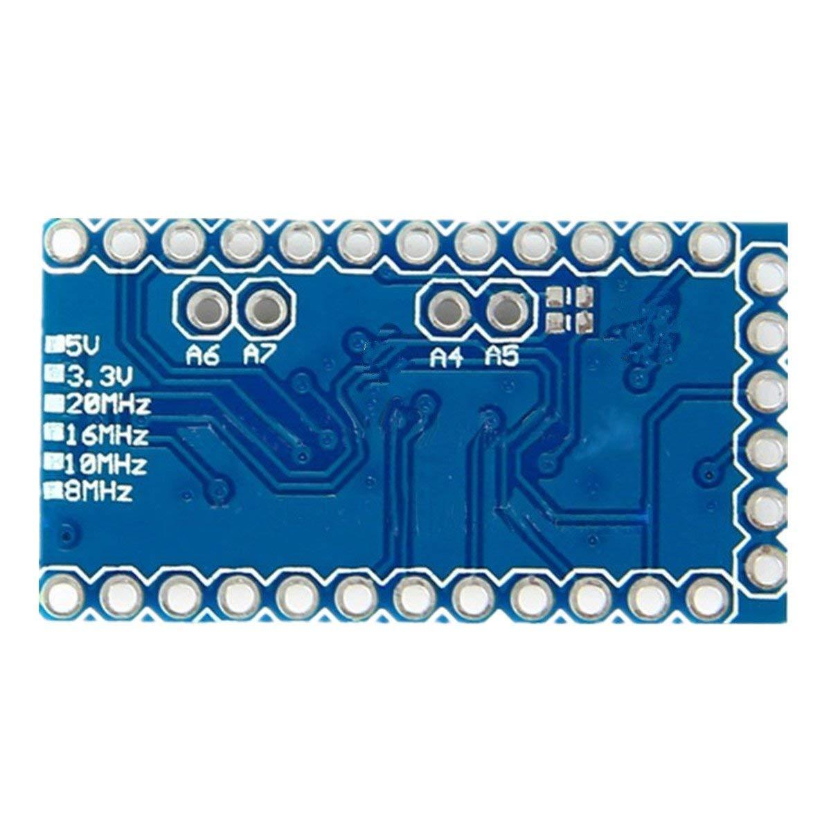 IZOKEE Nuevo Dise/ño Pro Mini ATMEGA328P 3.3V 8MHz M/ódulo Placa de Desarrollo Reemplazar ATmega128 Microcontrolador para Arduino Pro 3 x Nuevo Dise/ño 3.3V 8MHz