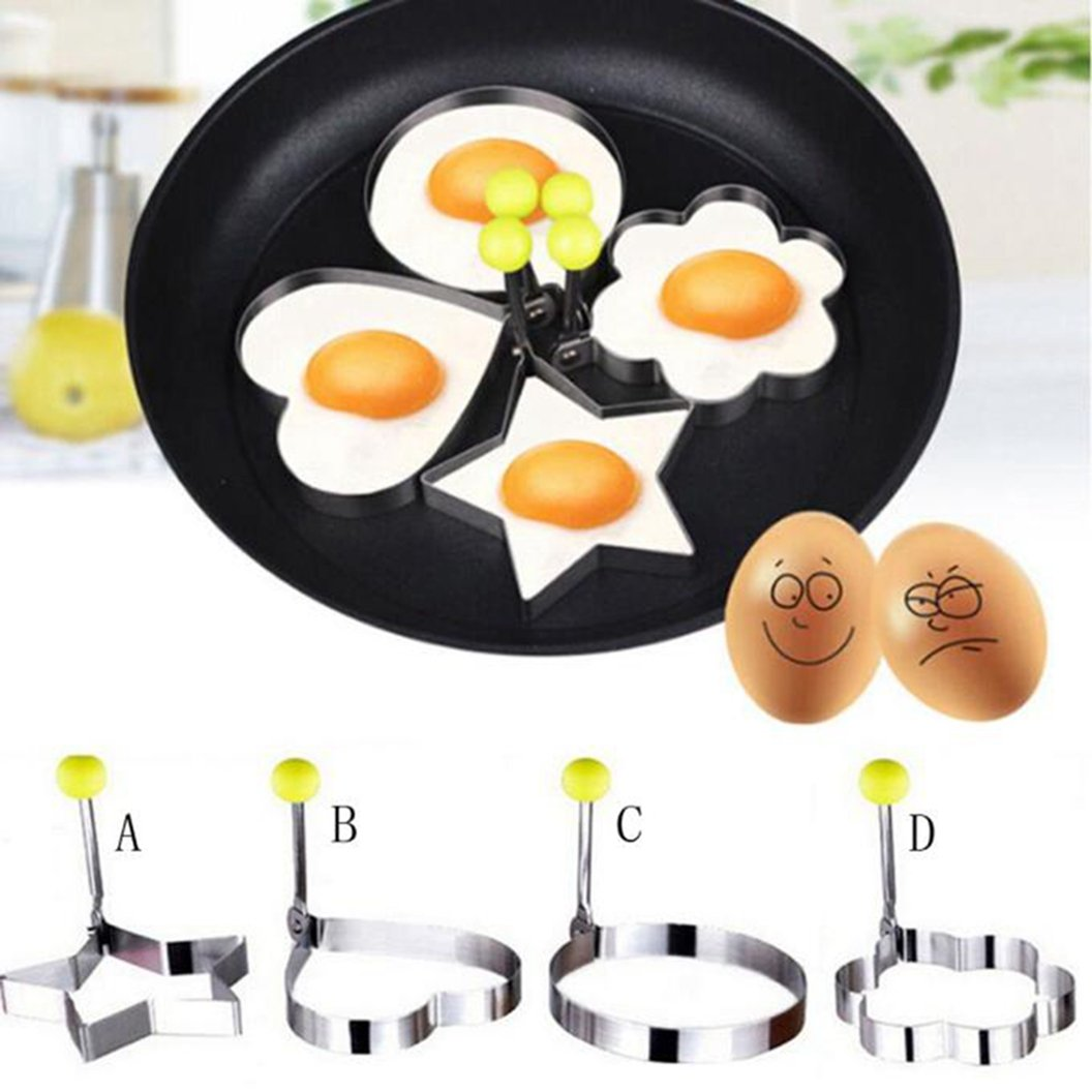 DEESEE(TM) Stainless Steel Fried Egg Shaper Pancake Mould Mold Kitchen Cooking Tools (A) by DEESEE(TM) (Image #2)