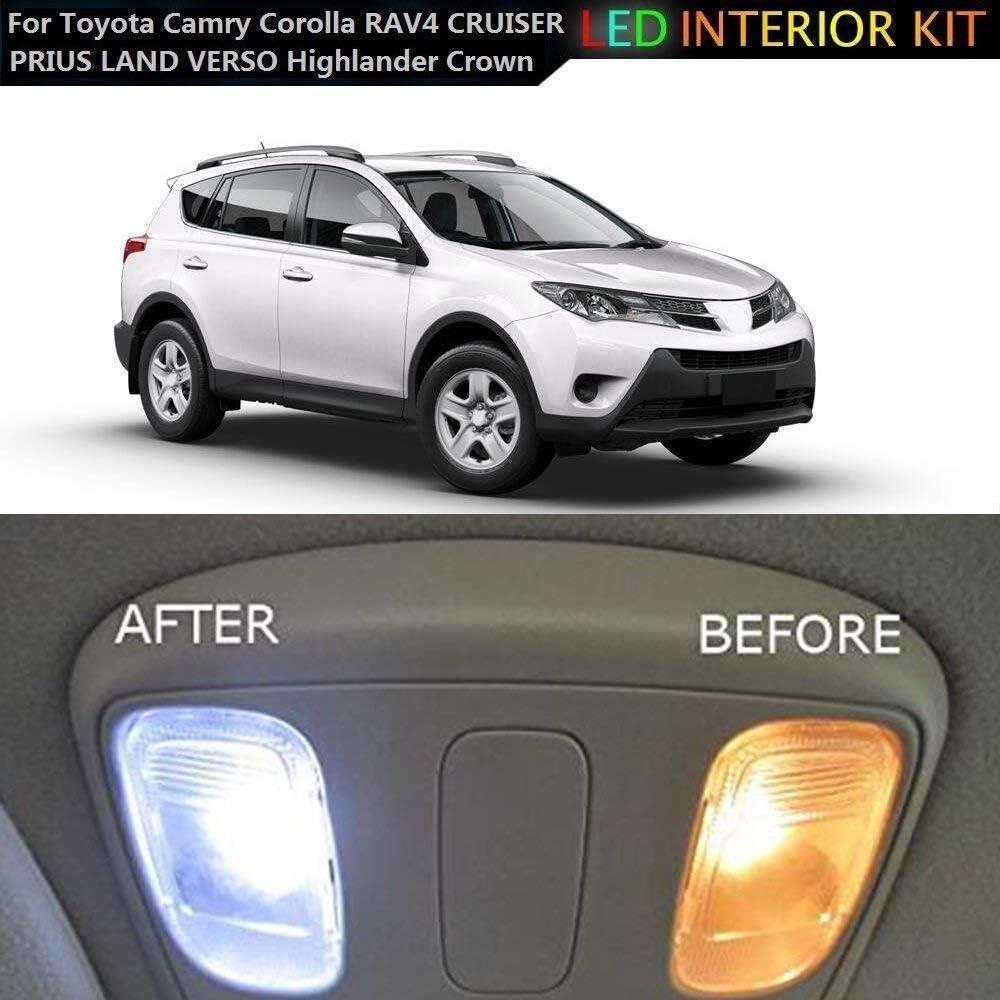 Para Land Cruiser LED Bombilla Luz Interior de Coche Super brillante Luces lectura coche Dome Bombilla Canbus sin errores 12V Blanco 5 Piezas