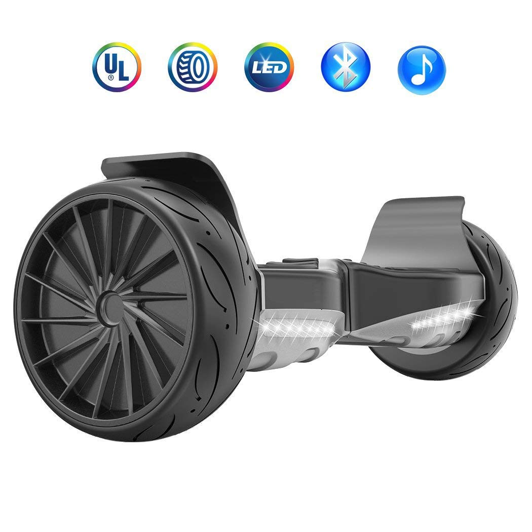 HYPER GOGO 8.5 Inch Electric Smart Self Balancing Scooter Hoverboard Built-in Bluetooth Speakers and LED Lights - Certified UL 2272 by HYPER GOGO