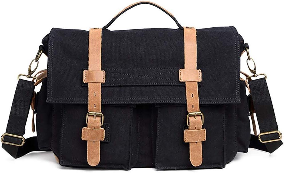 Techecho Mens Messenger Bag Digital Camera Bag Canvas Digital Camera Bag Outdoor Canvas Camera Bag Casual Shoulder Camera Bag Working Bag for Business School Gray Color : Brown