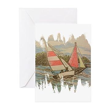 amazon com cafepress hand drawn sailboats greeting cards