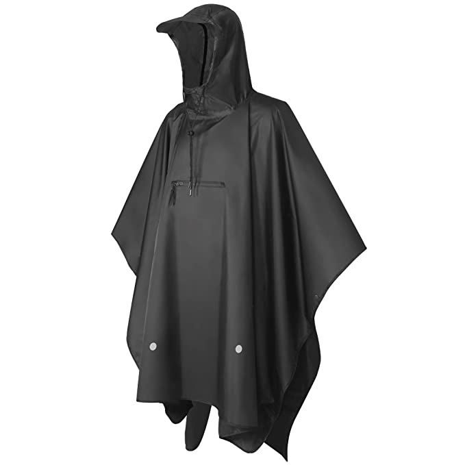 a9826e8965a High Waterproof Rain Poncho TPU 8000 MM, Multi-Functional Rain Poncho  Andake (S
