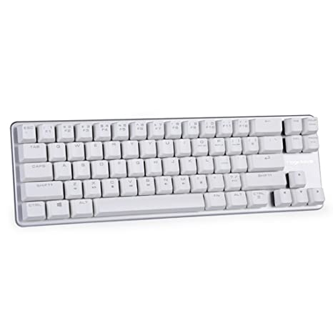 0342b62bbbe Amazon.com: Mechanical Keyboard Wired Keyboard Blue Switch 68-Keys Mini  Design (60%) Gaming Keyboard White Silver by Magicforce Qisan: Computers &  ...