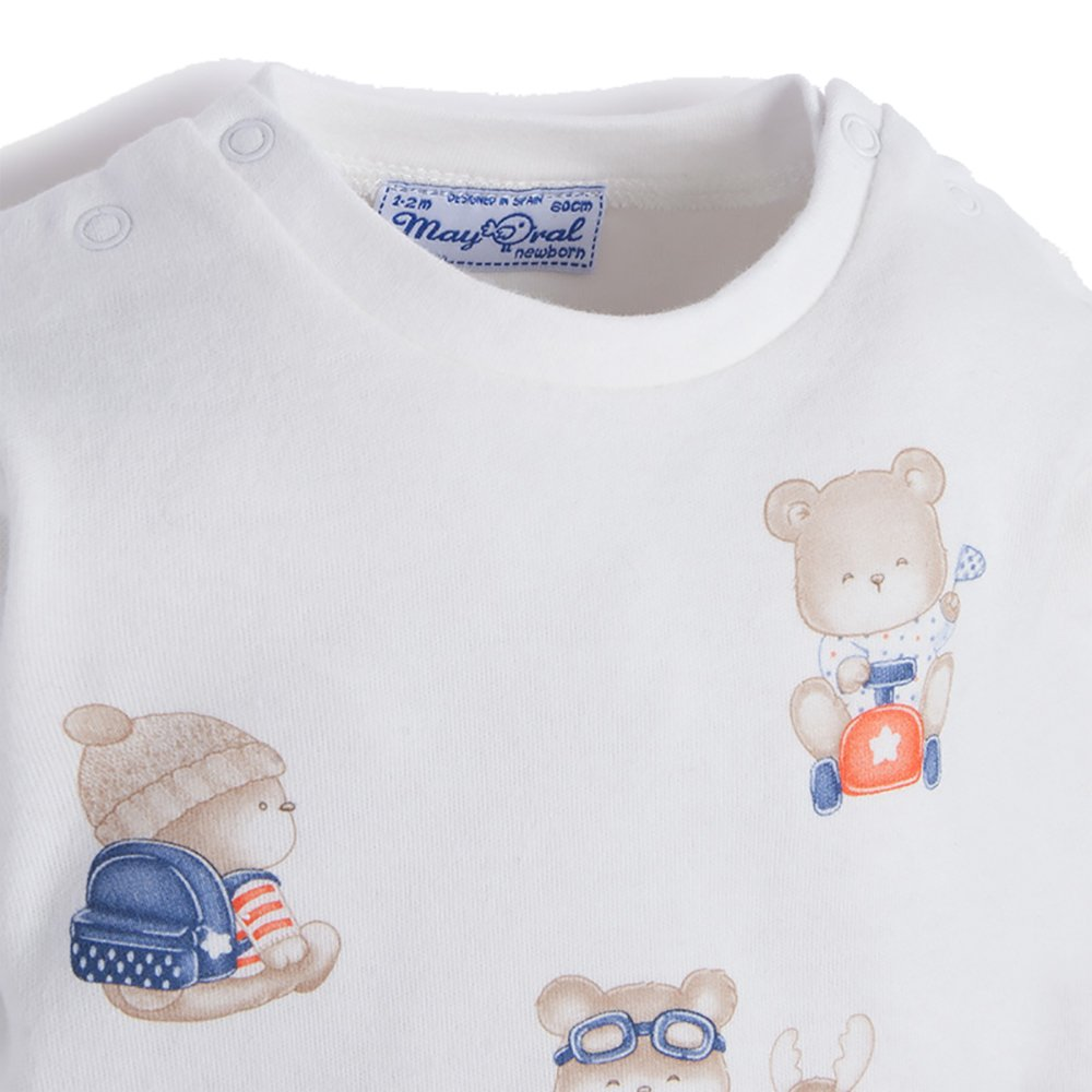 Mayoral Cute Bears and Box Cars 2 Pack of Shirt Gift Set
