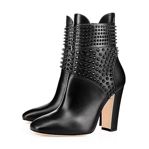 Amazon.com: xyd Moda Formal Zapatos Puntera Cerrada Chunky ...