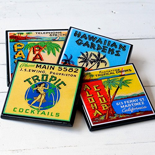 - Vintage Tiki Lounge Coaster Set