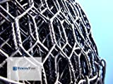 Fencer Wire Poultry Hex Netting 20 Gauge Vinyl Coated Black 48''x150' 1'' Mesh