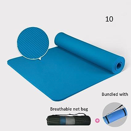 Amazon.com : Yoga mat 185cm 80cm 15mm Non-Slip Exercise Mats ...