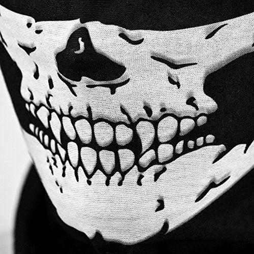 3d84f05b223 Lemonda 8 Pièces Masque Tête de Mort Masque Crâne Toussaint Multi-Fonction  Écharpe Serviette Bandana Mouchoir Ultra-léger Respirant Elastique Magique  sans ...