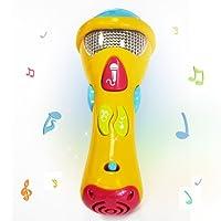 Wishtime Kinder Mikrofon Spielzeug Karaoke Beschreibbarer Spielzeug JL8391 (Aufzeichnung, Akustik, Lieder und Beleuchtung) Erste elektronische Karaoke Musikalisches Mikrofon für Kinder