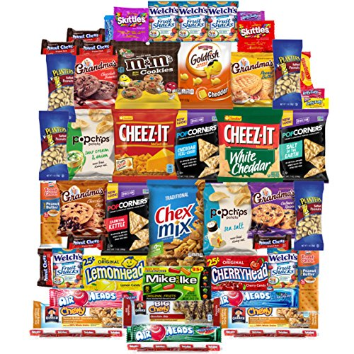 Snacks Care Package Gift Assortment (50 (Collage Package)