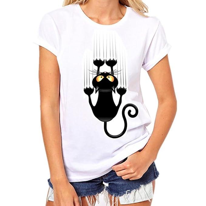 ef0abedb99 feiXIANG ® Uomo & Donna T-Shirt Uomo Maglietta da Donna Maglia Coppie  Uomini Donne Stampa Camicetta Maniche Corte Camicia T Shirt Estate