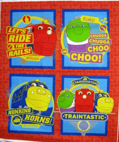 42'' Wide Chuggington Pillow Cotton Fabric By The Panel ()