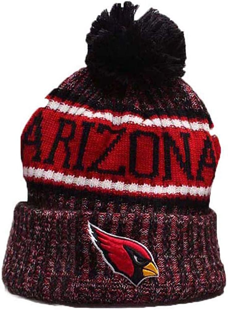 cbc6d2709f5325 Atlanta Falcons Winter Knit Hat Football Pompoms Beanie Hat for Gift ...