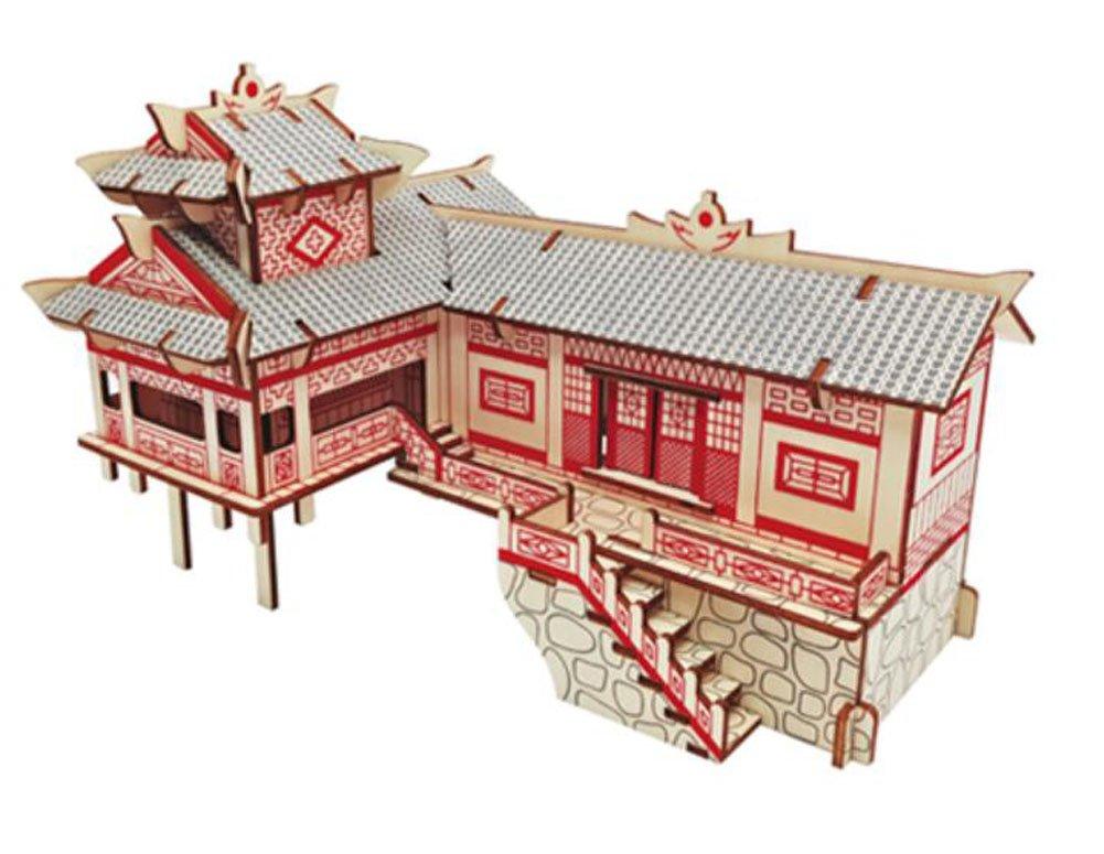 ファッションデザイナー 3d木製パズルアーキテクチャ建物教育玩具3dパズル、# B077GX4LZP 07 07 B077GX4LZP, titivate(ティティベイト):e64b2d74 --- clubavenue.eu