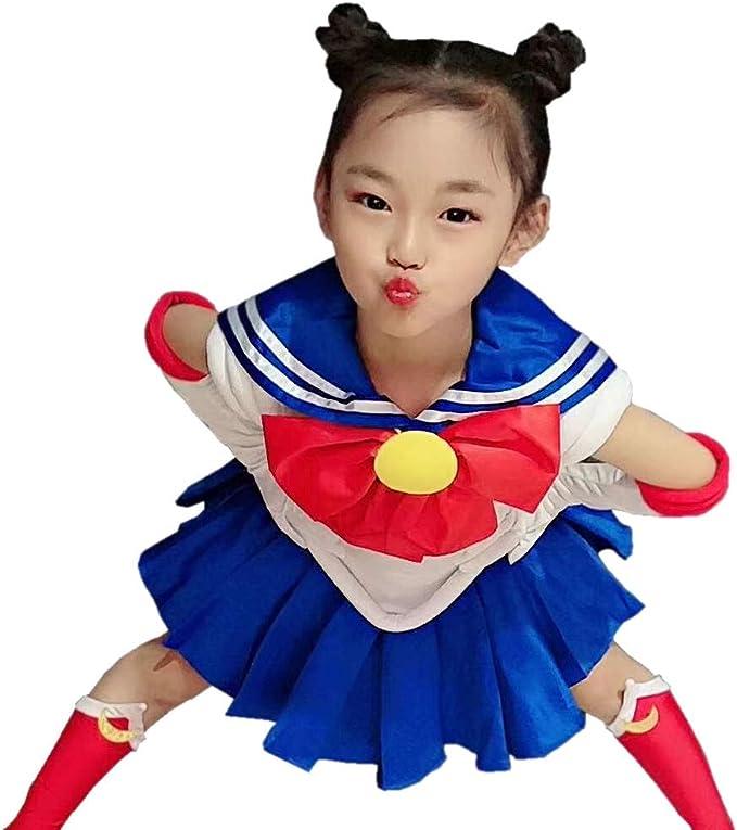 OURCOSPLAY Disfraz Infantil de Sailor Moon Tsukino Usagi, 7 ...