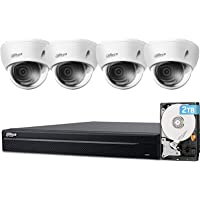 Dahua 8CH 4K 8MP Dome Security Camera System H.265+, 4pcs Wired 8MP Outdoor PoE IP Cameras,8MP 8-Channel NVR with 2TB…
