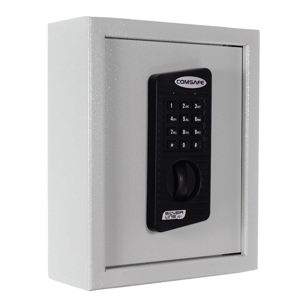 KeyTronic 20 Coffre-fort mural Armoire à clés pour 20 clés avec fermeture à code + 2 clés Boîte pour clés en acier