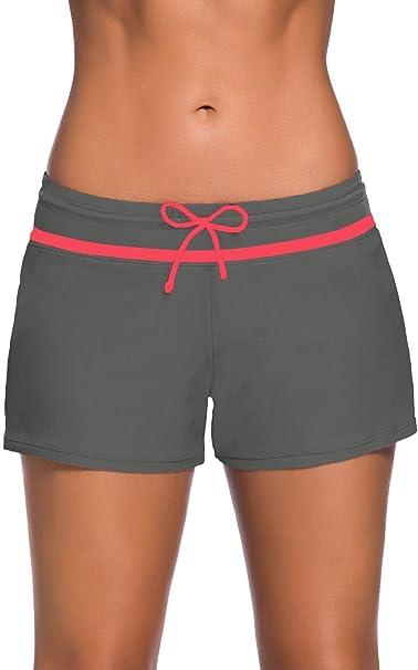 Schwimmshorts Badeshorts Damen UV Schutz Bikinihose