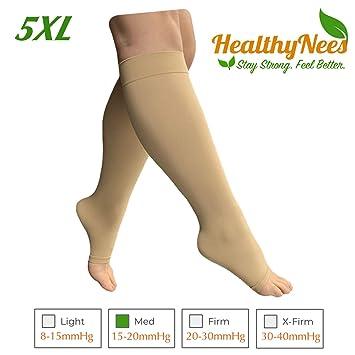 7a7bdbc511a1e7 HealthyNees 15-20 mmHg Compression Med Grade Extra Wide Big Large Plus Size  Calf Fatigue