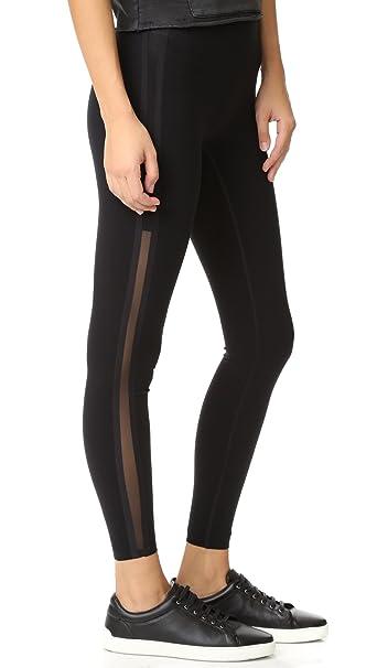 4b862c73f3bbac SPANX Every Wear Mesh Side Stripe Very Black Leggings 50007R, VERY BLACK, S