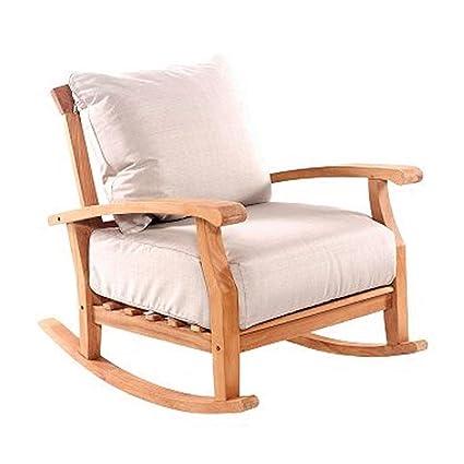 Sensational Amazon Com Ats Garden Rocking Chair Wood Patio Rocker Squirreltailoven Fun Painted Chair Ideas Images Squirreltailovenorg