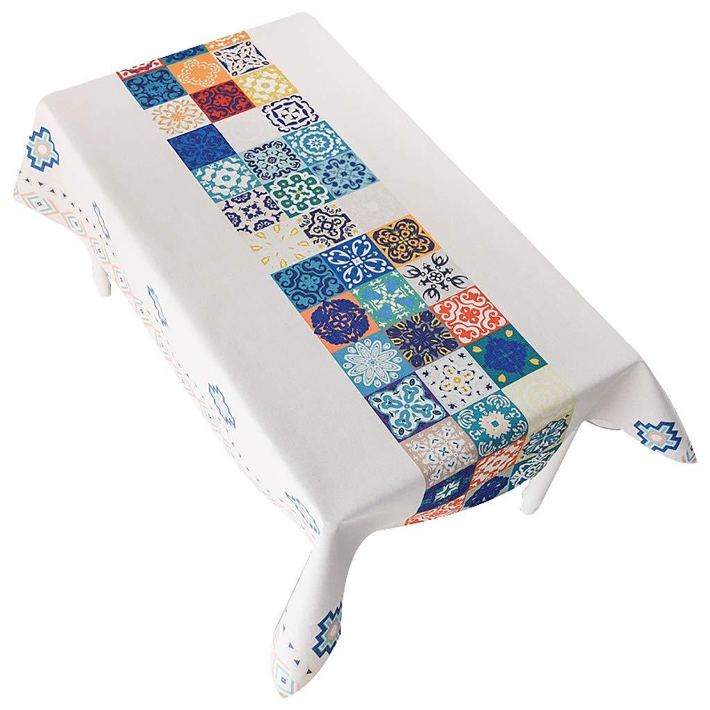 LF Baumwolle und Leinen Tischdecke National Wind Festival Rechteckige Tischdecke Thick Cover Tuch 140 × 180 cm tischdecken; abwaschbar; rund (größe   140×230cm)