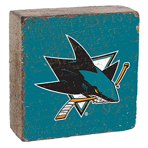 NHL San Jose Sharks, Team Colors Background, Team Logo Block,  6