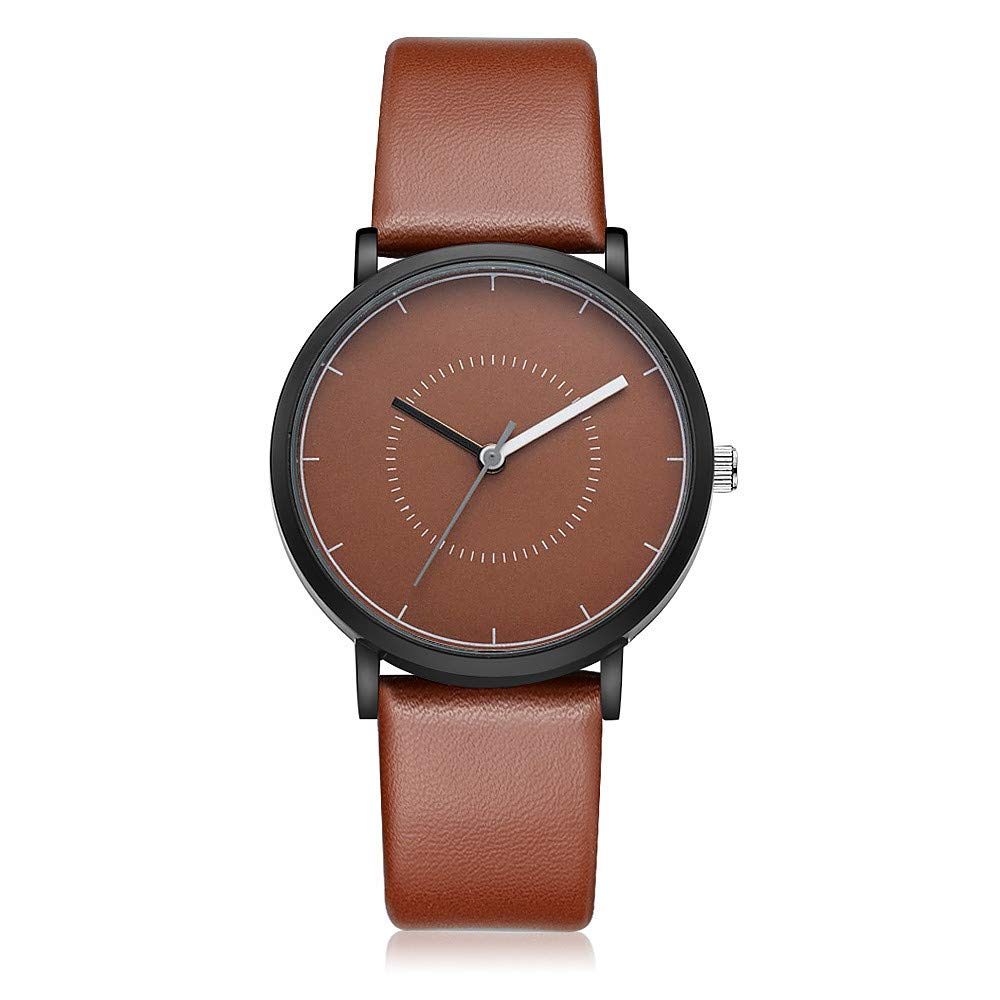 Reloj para Hombre y Mujer Correa Cuero Gaiety G492 de Cuarzo analógico Reloj Venda de Pulsera Redondo Relojes de Suave Banda Negocios Strap: Amazon.es: ...