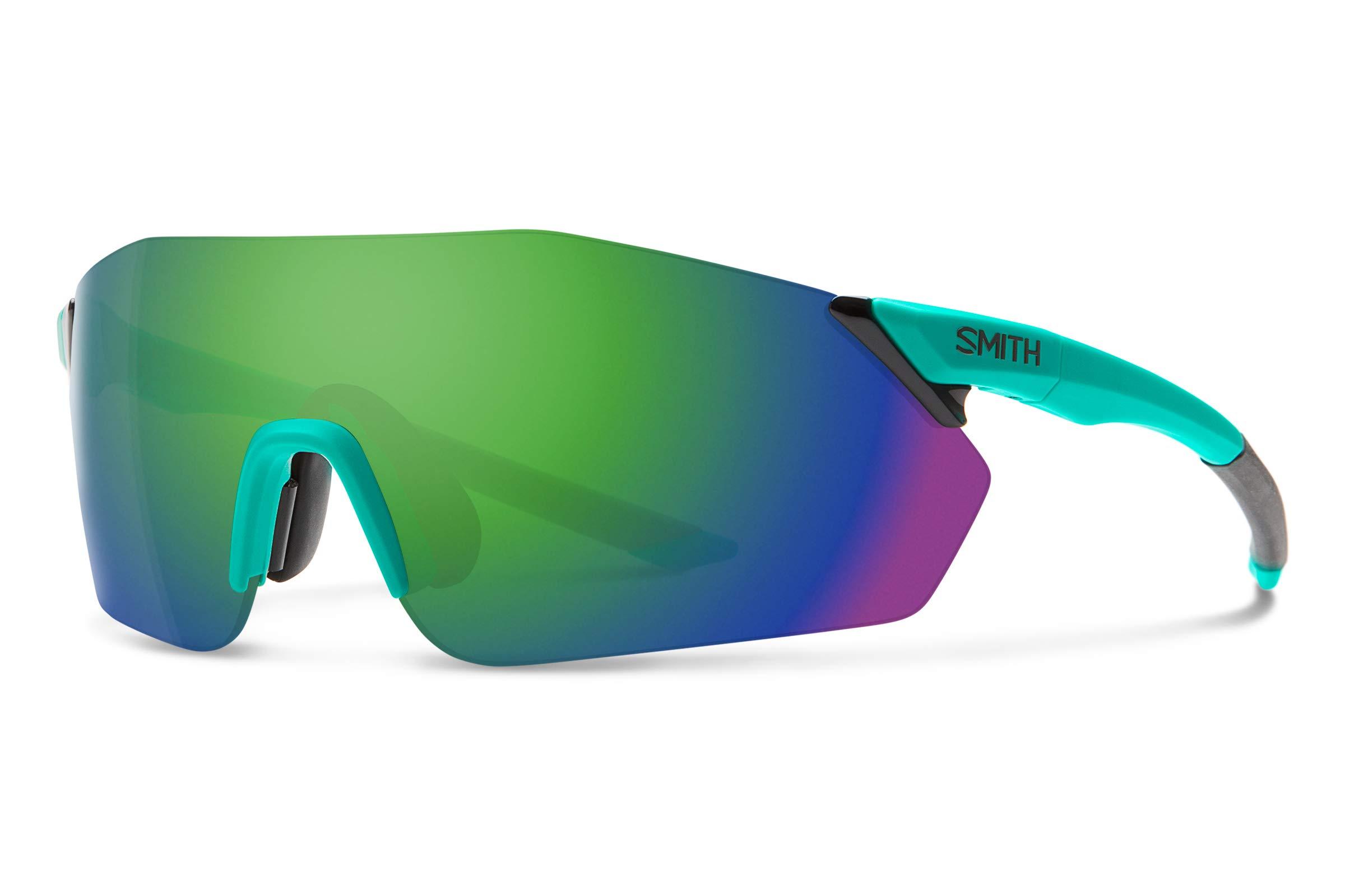 Smith Reverb Chromapop Sunglasses, Matte Jade, Chromapop Sun Green Mirror/Contrast Rose