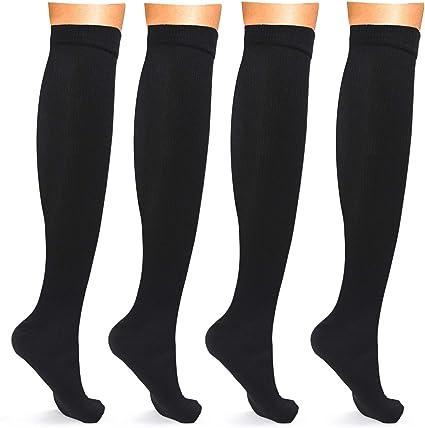 Calcetines De Compresión Mujeres Hombres Circulación Enfermería Medias De Compresión Rodilla Alta Apoyo Calcetines Clothing